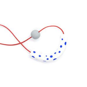 Joy Necklace Blue Polka Dots