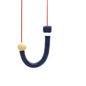 Joy U Necklace Navy Blue