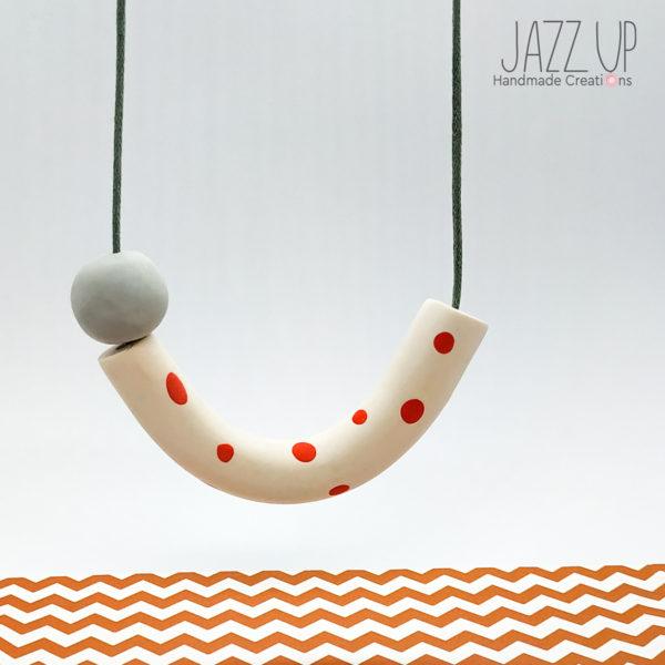 Joy Necklace Red Polka Dots