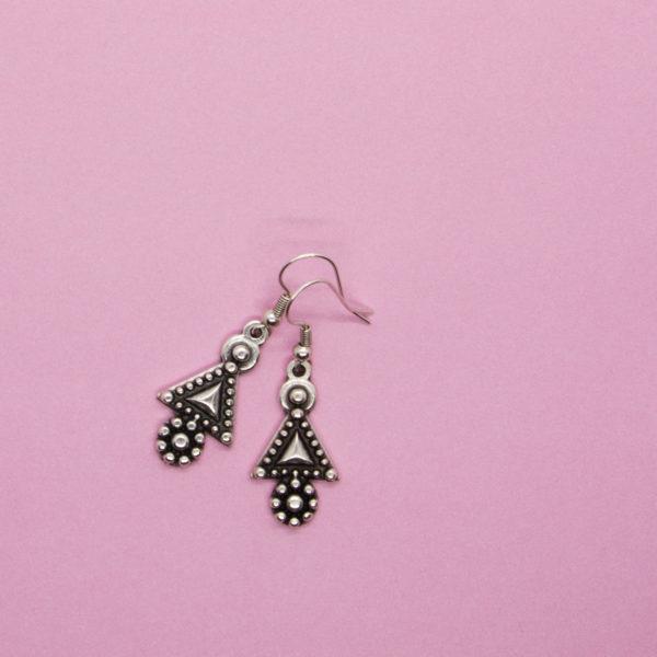 Triangle Flower Earrings