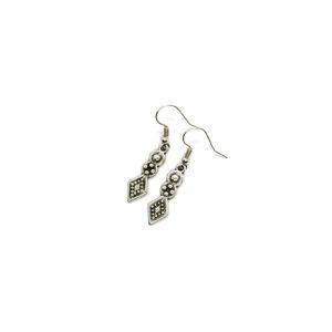 Rhombus Flower Earrings